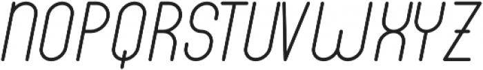 Luwest Rounded Light Italic otf (300) Font UPPERCASE