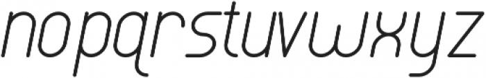 Luwest Rounded Light Italic otf (300) Font LOWERCASE