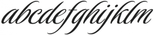 LuxuriousPro otf (400) Font LOWERCASE