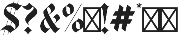 Luxus Gothic otf (400) Font OTHER CHARS