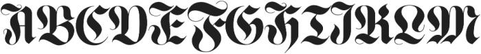 Luxus Gothic otf (400) Font UPPERCASE