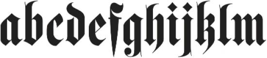 Luxus Gothic otf (400) Font LOWERCASE