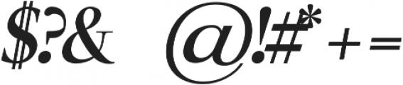 Luzia Bold Italic otf (700) Font OTHER CHARS