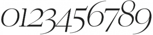 Luzia Light Italic otf (300) Font OTHER CHARS