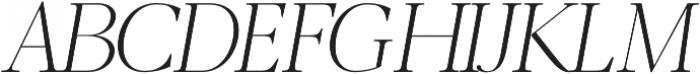 Luzia Light Italic otf (300) Font UPPERCASE