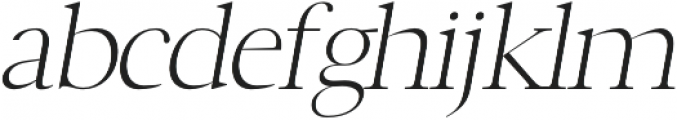 Luzia Light Italic otf (300) Font LOWERCASE