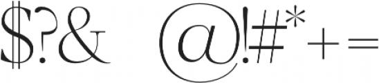 Luzia Light otf (300) Font OTHER CHARS