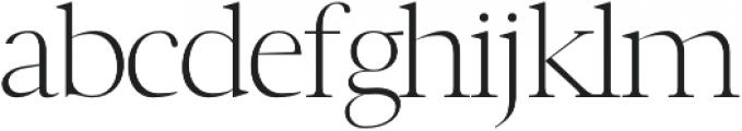 Luzia Light otf (300) Font LOWERCASE