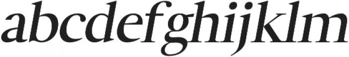 Luzia SemiBold Italic otf (600) Font LOWERCASE