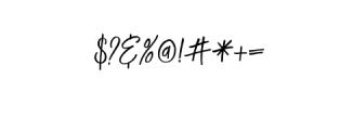 LuckyFashion-Regular.otf Font OTHER CHARS