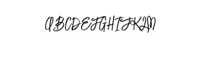 LuckyFashion-Regular.otf Font UPPERCASE