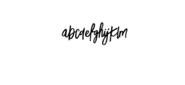 LuckyFashion-Regular.otf Font LOWERCASE