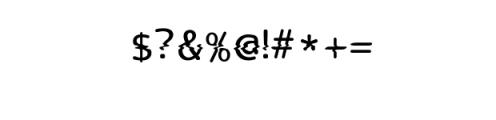 LucyGlitch.ttf Font OTHER CHARS