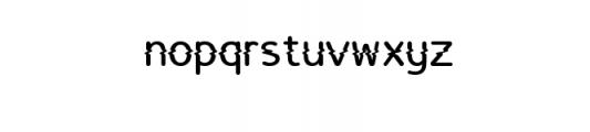 LucyGlitch.ttf Font LOWERCASE