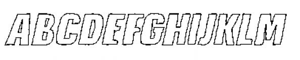 Lunisolar Hollow Italic Font UPPERCASE