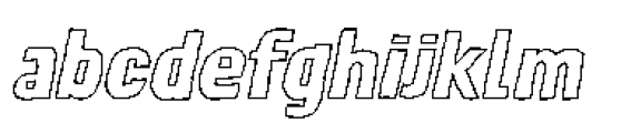 Lunisolar Hollow Italic Font LOWERCASE