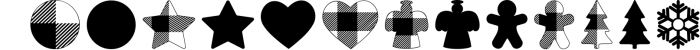 Lumberjack dingbat font, Combinable Christmas elements Font UPPERCASE