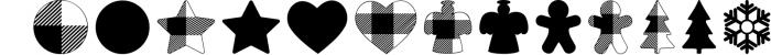 Lumberjack dingbat font, Combinable Christmas elements Font LOWERCASE