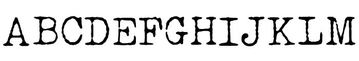 LUCKY TYPEWRITER Font UPPERCASE