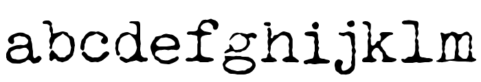 LUCKY TYPEWRITER Font LOWERCASE