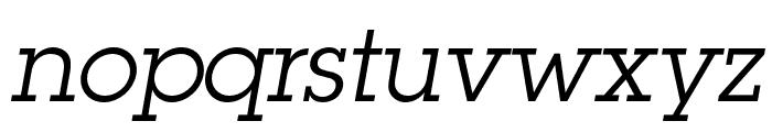 LubalinGraphStd-BookOblique Font LOWERCASE
