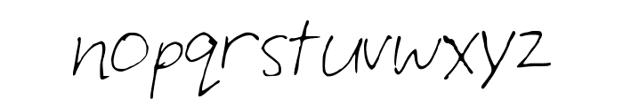 LuciansHand Font LOWERCASE