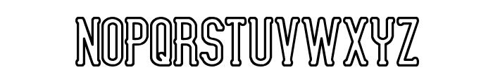 Lucid Type B Outline BRK Font UPPERCASE