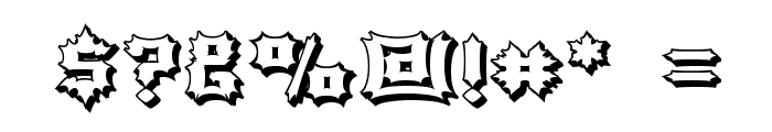 Luciferius Infernitus Font OTHER CHARS