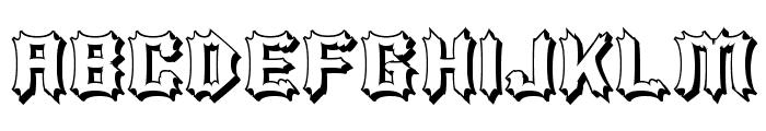 Luciferius Infernitus Font UPPERCASE