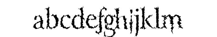 LucifersPension Roman Font LOWERCASE