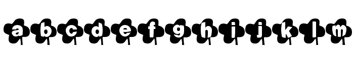 Lucky Font Font LOWERCASE