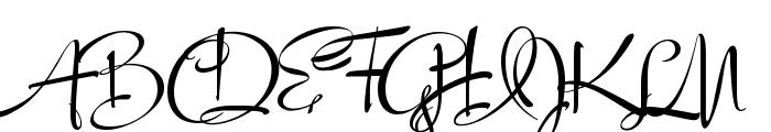 LucyScriptCapitals Font UPPERCASE