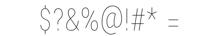 Lugina FP Light Font OTHER CHARS