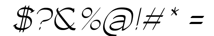 Luisa Italic Font OTHER CHARS