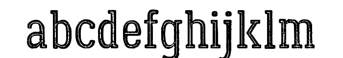 LumberjackInlineRough Font LOWERCASE
