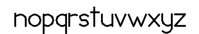 Lumpy Bump Font LOWERCASE