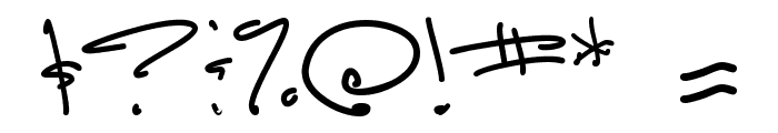 Luna Bar Font OTHER CHARS