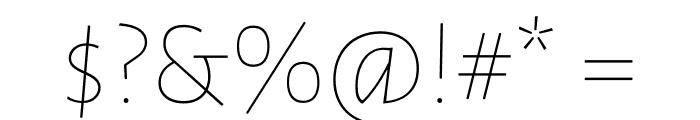 Luna Extra Light Regular Font OTHER CHARS