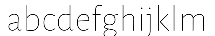 Luna Extra Light Regular Font LOWERCASE