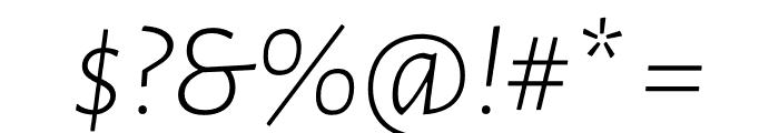 Luna Light Italic Font OTHER CHARS