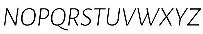 Luna Light Italic Font UPPERCASE