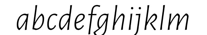 Luna Light Italic Font LOWERCASE