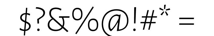 Luna Light Regular Font OTHER CHARS