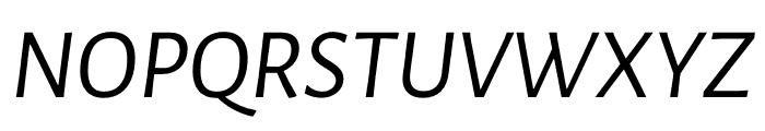 Luna Regular Italic Font UPPERCASE