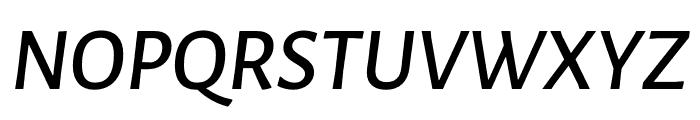 Luna Semi Bold Italic Font UPPERCASE