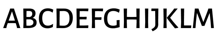 Luna Semi Bold Regular Font UPPERCASE