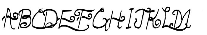 LunarOatmeal-Regular Font UPPERCASE