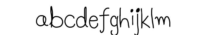 Luna's Handwriting Font LOWERCASE
