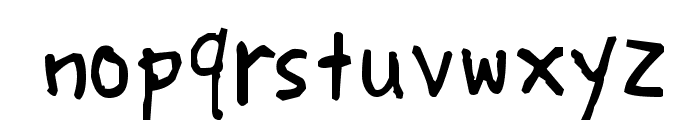 Lunatic Font LOWERCASE