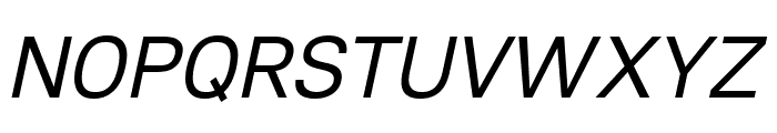 Lunchtype21 Italic Font UPPERCASE